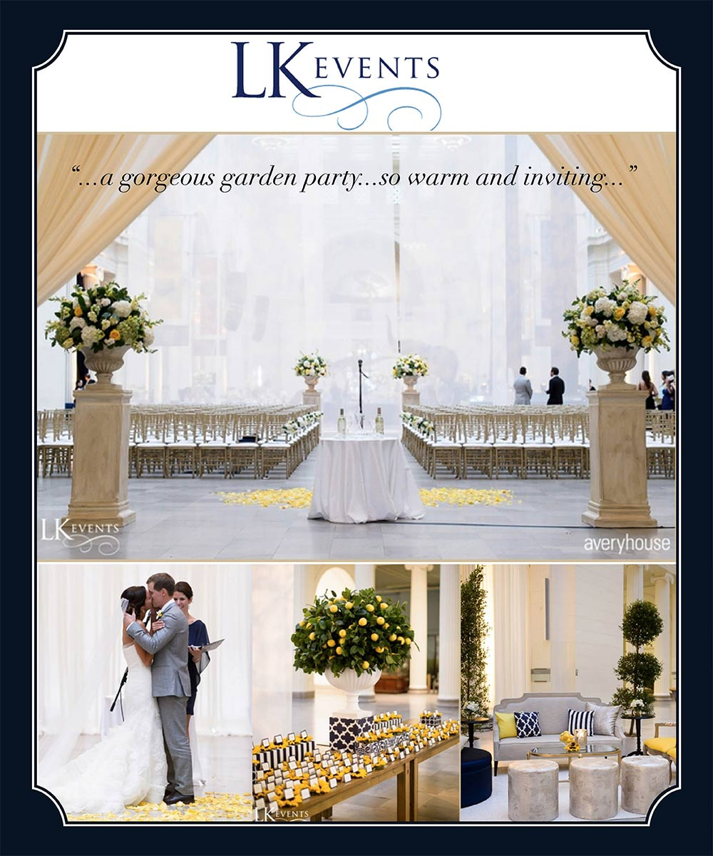 HMR Designs and LK Events at Field Museum Wedding
