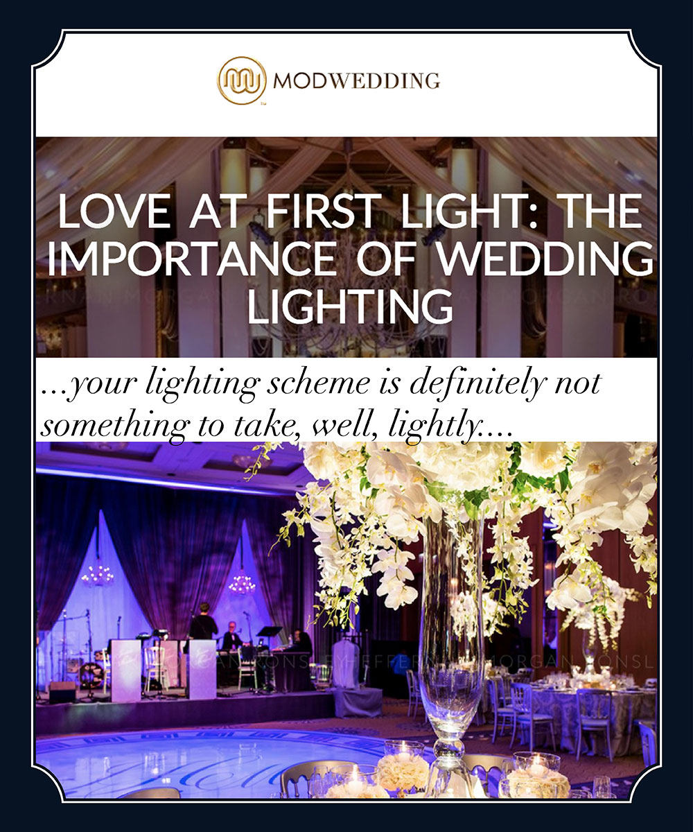 wedding lighting inspiration from HMR Designs on MOD Weddings
