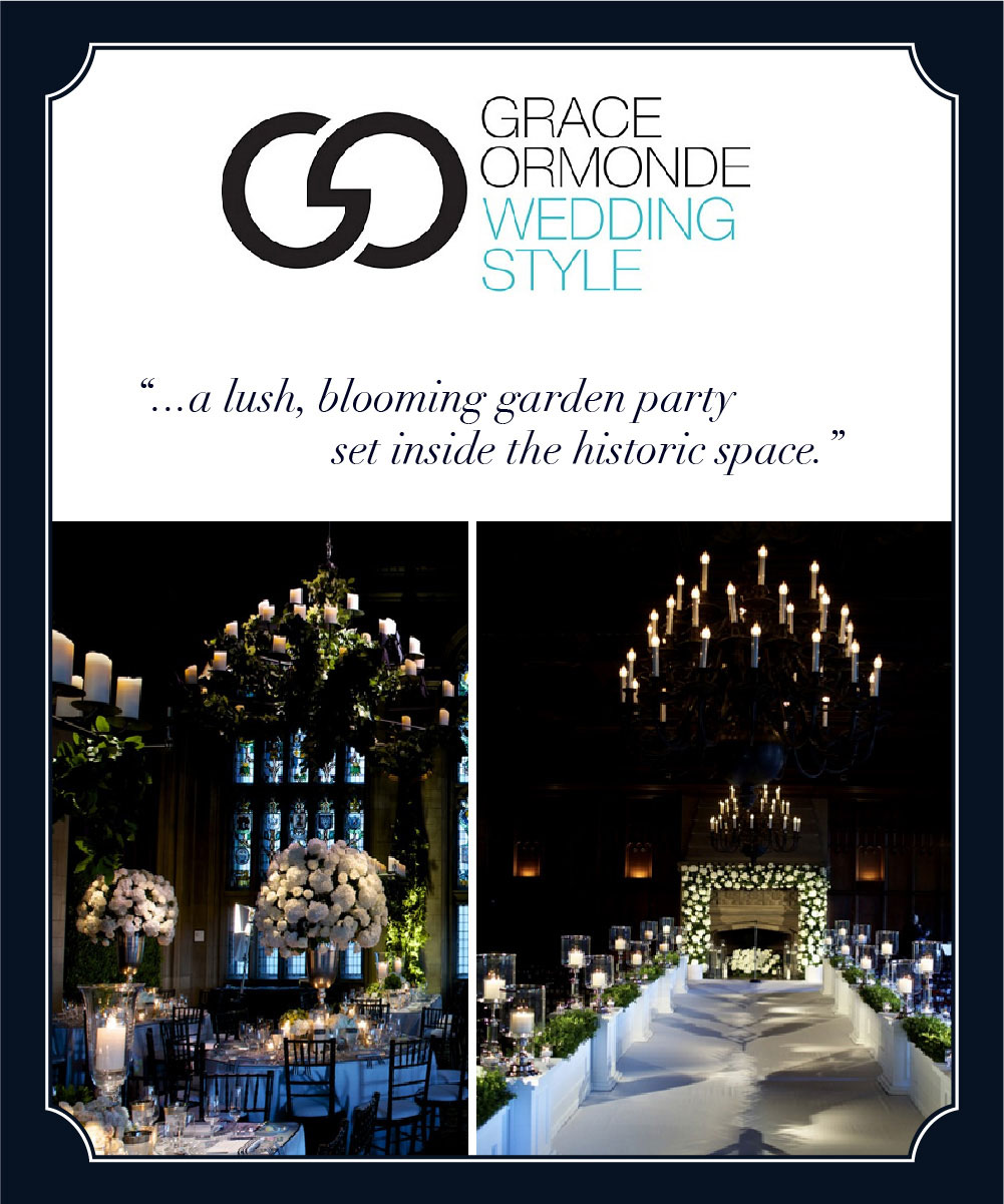 Grace Ormonde Wedding Style featuring HMR Designs at University Club Chicago