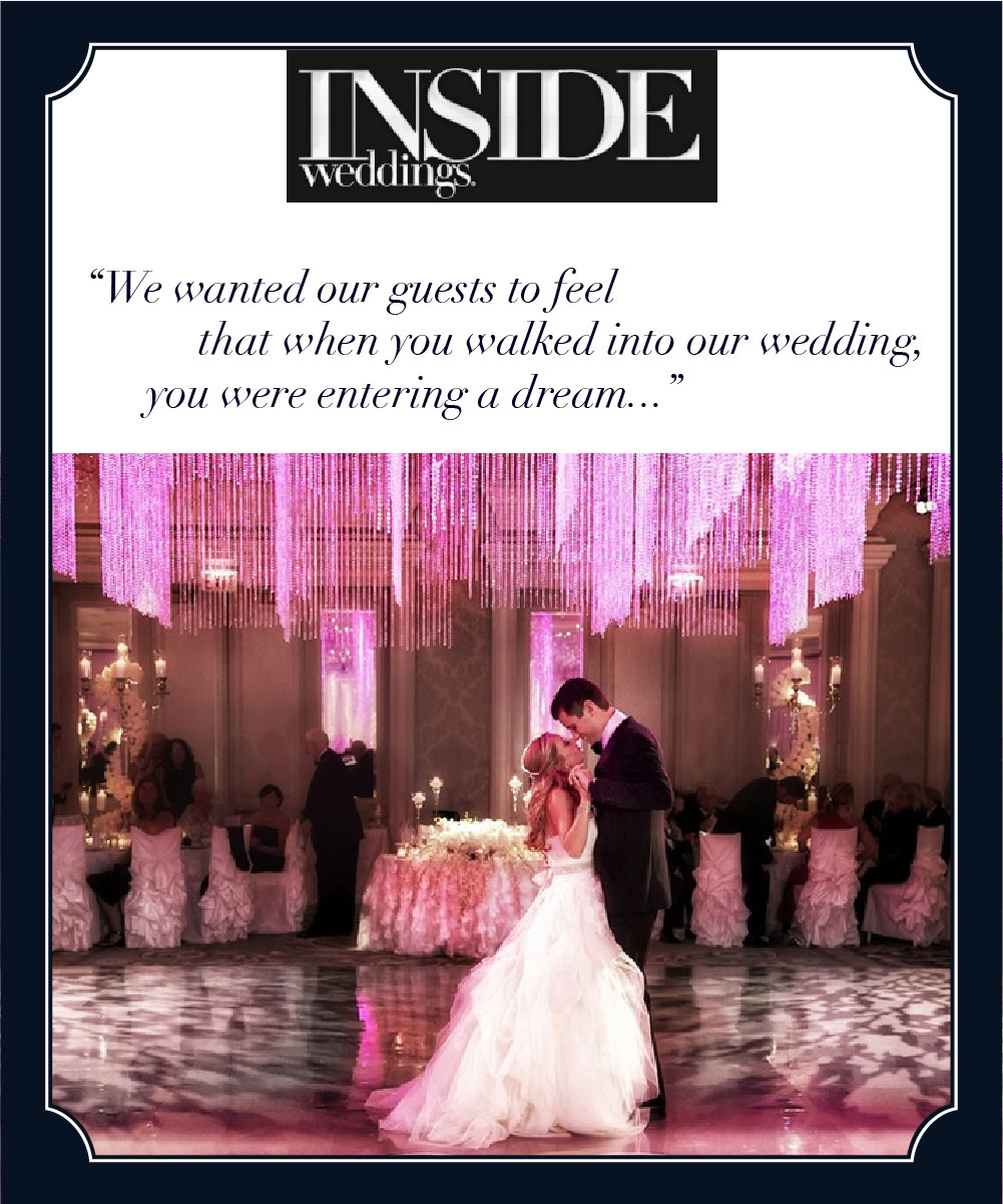 Inside Weddings and HMR Designs