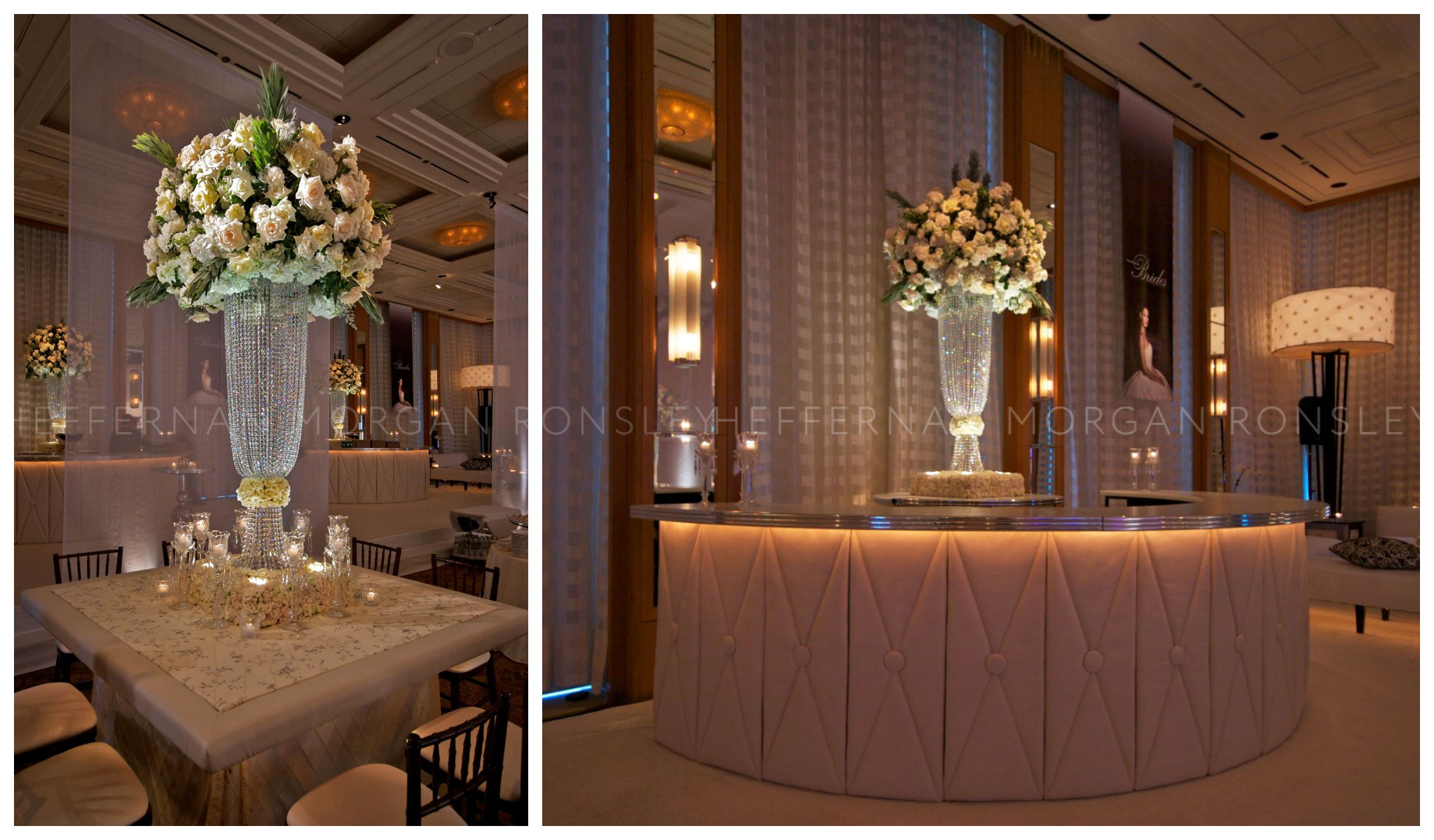 Elegant floral and a custom bar, also from 2007's event at the Peninsula.