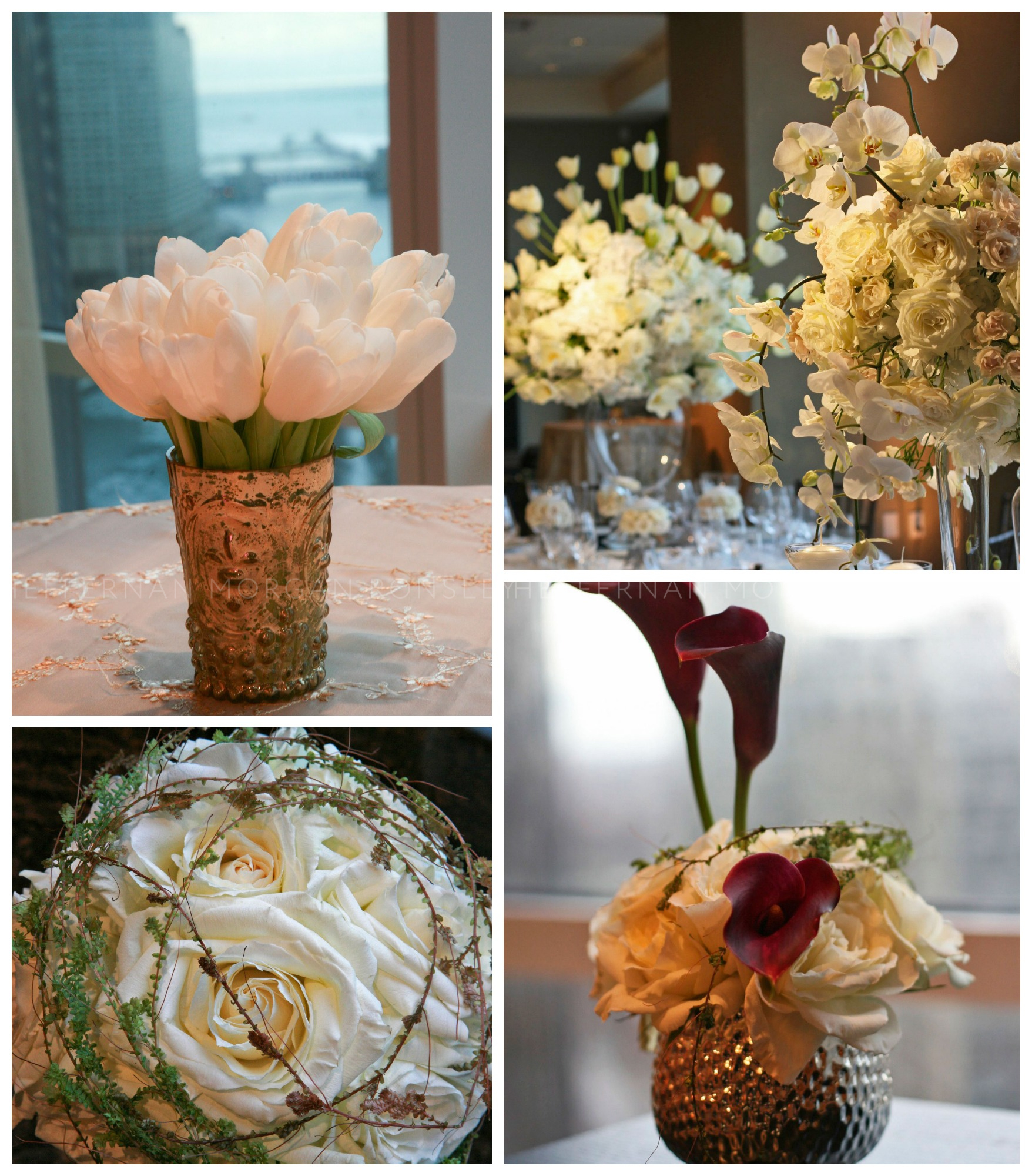 A sampling of floral design from the 2008 event hosted by the Trump International Hotel and Tower.