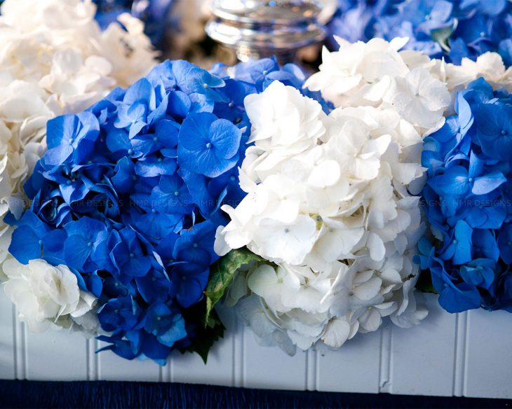 Blue-and-white-hydrangea-at-the-ACS-Discovery-Ball-2012-by-HMR-Designs