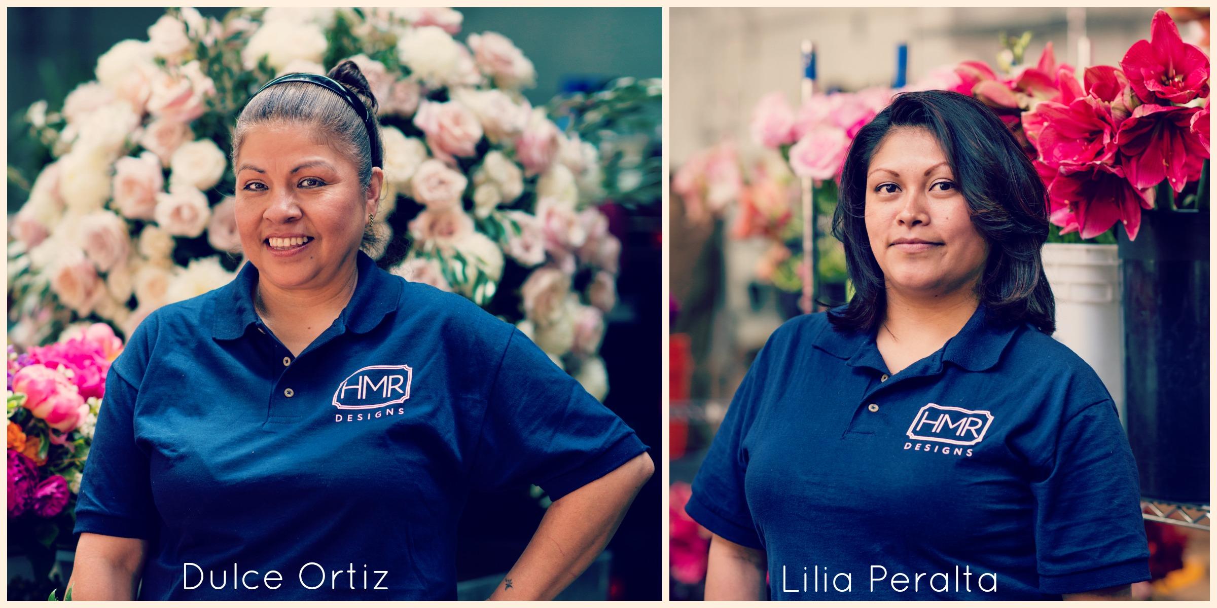 HMR Designs floral processing and design team members