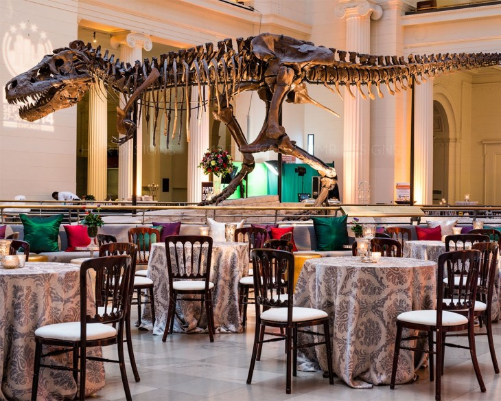 Corporate event design by HMR Designs at the Field Museum
