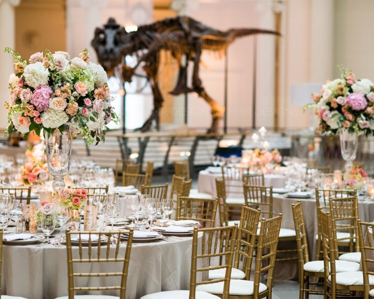 A pastel summer wedding at the Field Museum by HMR Designs and LK Events