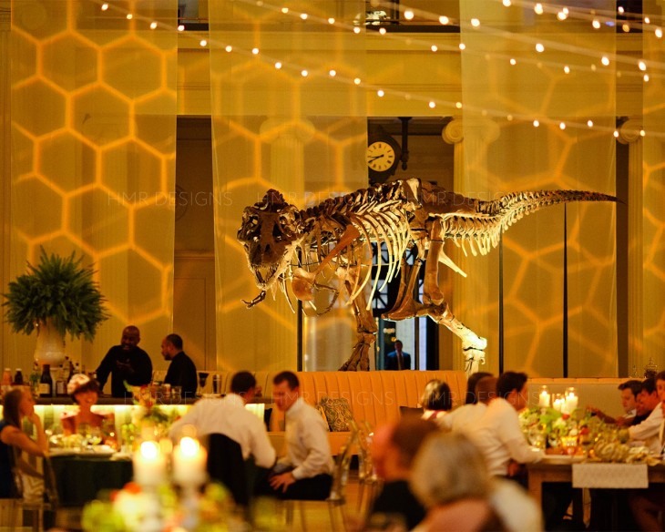 A unique amber wedding at Field Museum by HMR Designs