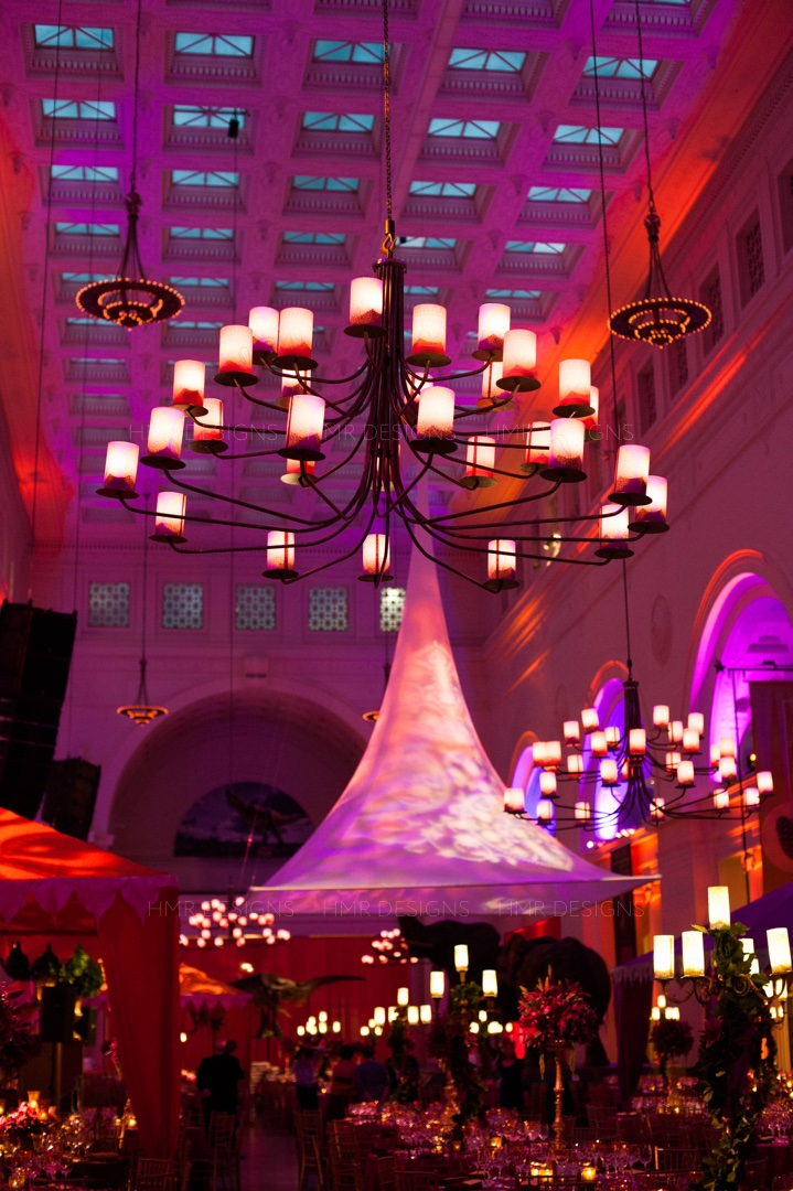 An Indian celebration at the Field Museum with decor by HMR Designs