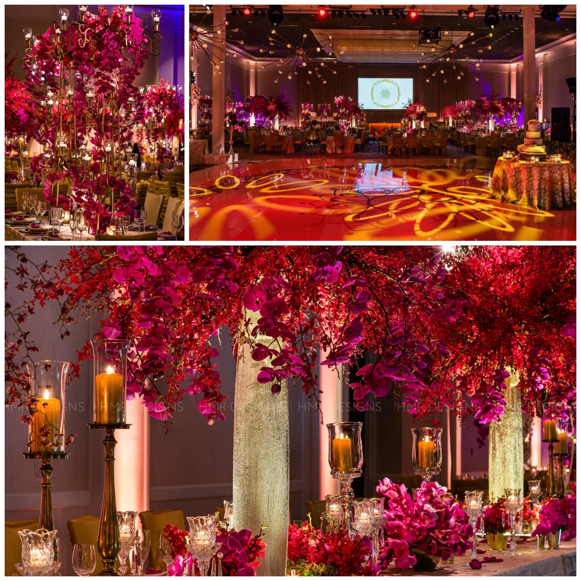 Luxury wedding decor by HMR Designs