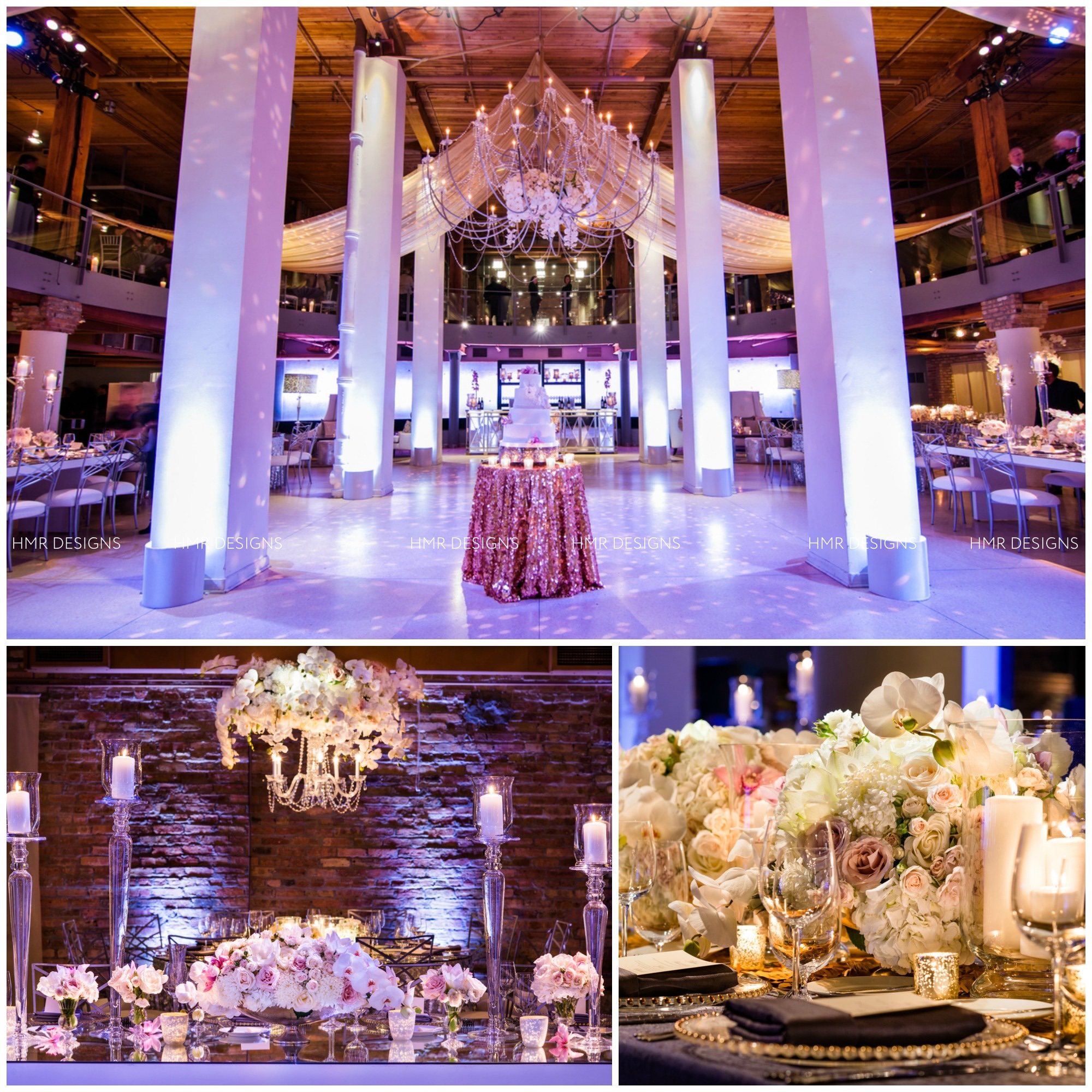 Chicago Wedding at REAC by HMR Designs