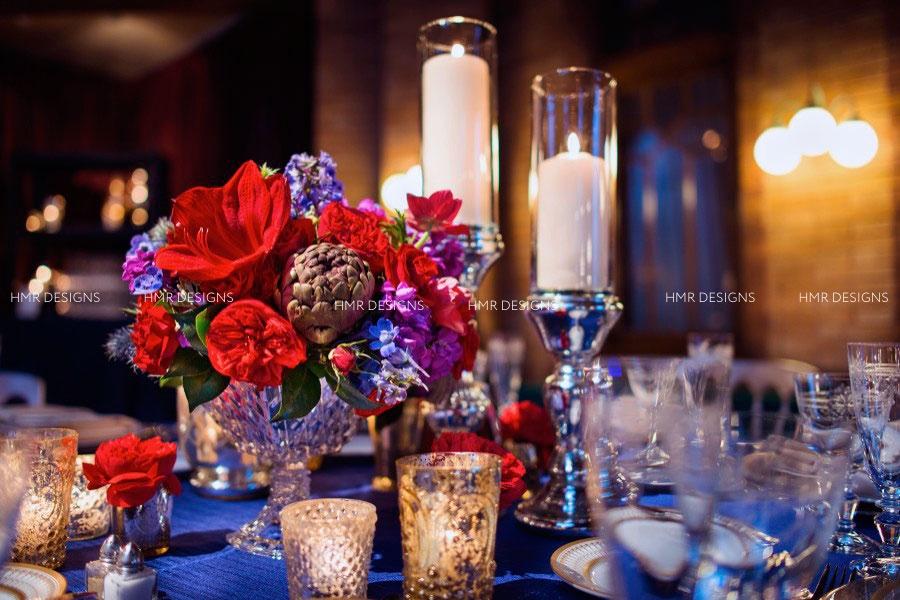 Bold, rich winter floral by HMR Designs