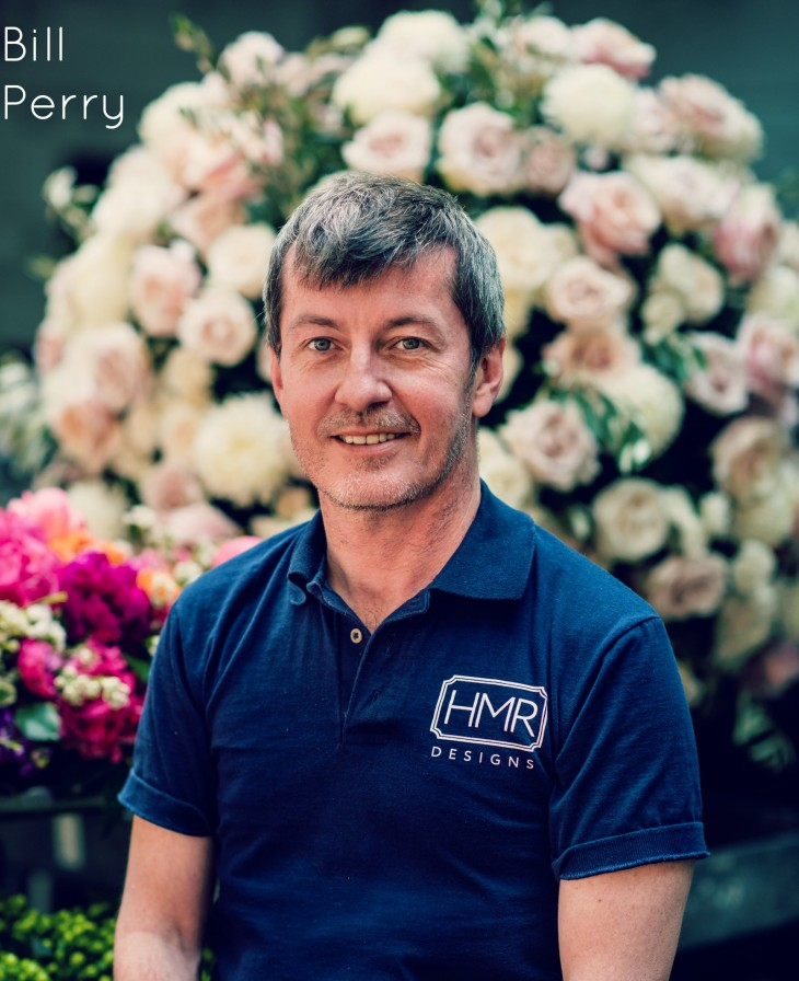 Bill Perry, Floral Designer. Photograph by Kent Drake