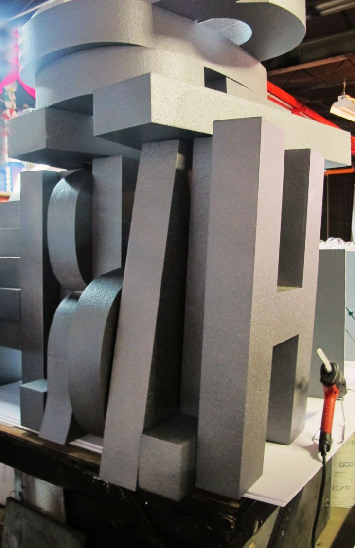 giant foam letters by hmr designs for a corporate event