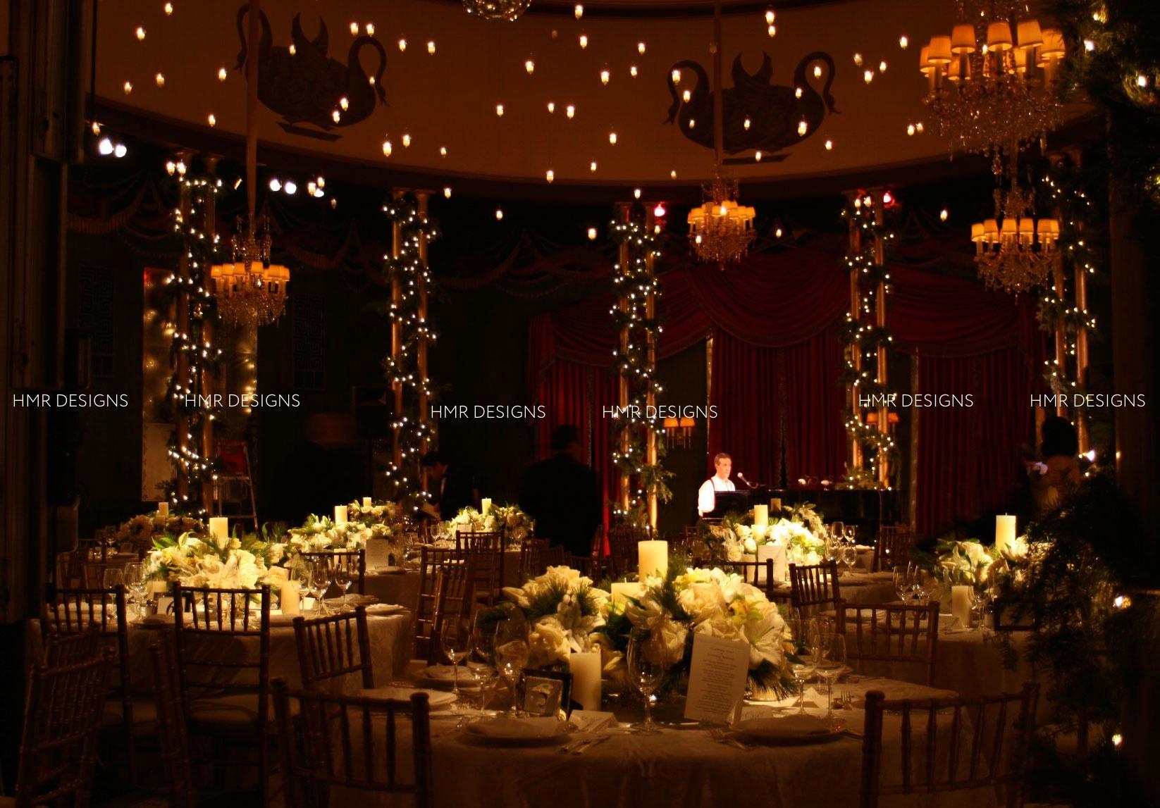 Casino Club Winter Wedding by HMR Designs