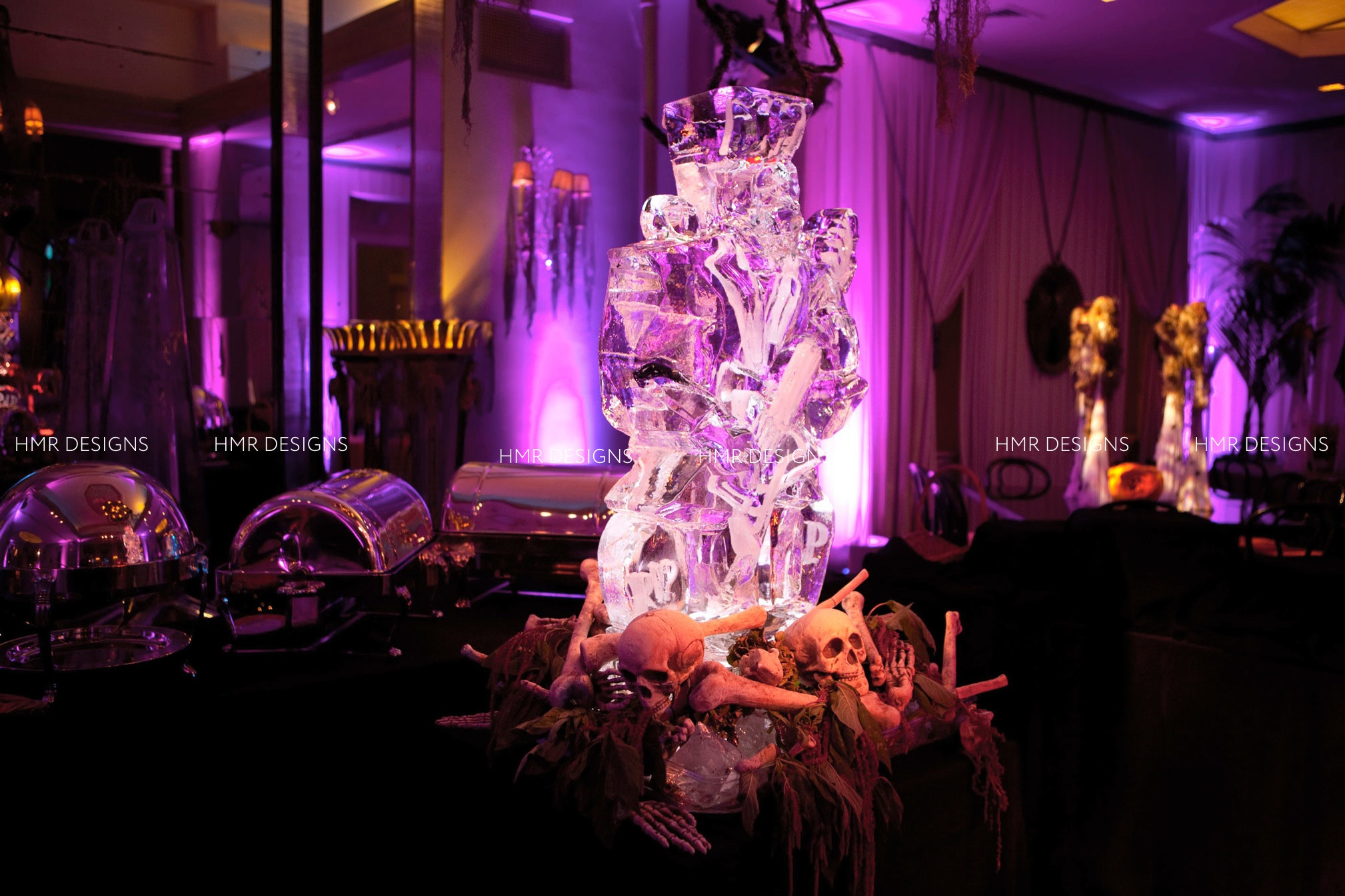 Halloween cocktail party by HMR Designs at Casino CLub CHicago
