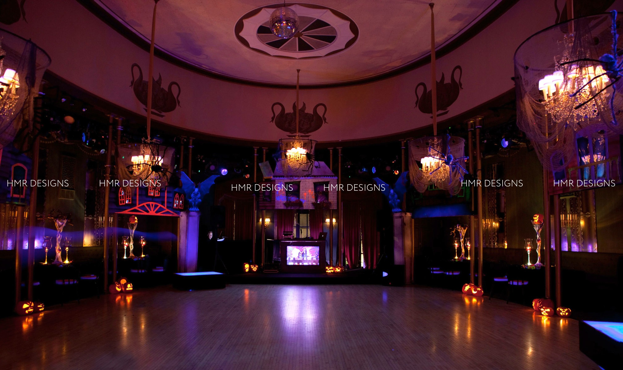 Casino Club Chicago all decked out for Halloween by HMR Designs