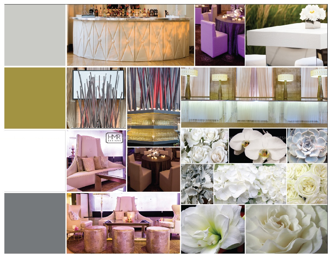 "...and inspiration boards help to hone in on color palettes, thematic elements and the overall ""feel."""