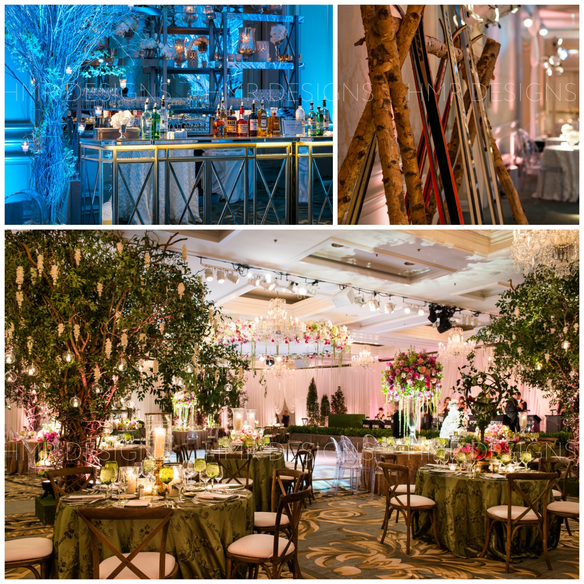 Spring themed wedding at Four Seasons by HMR Designs
