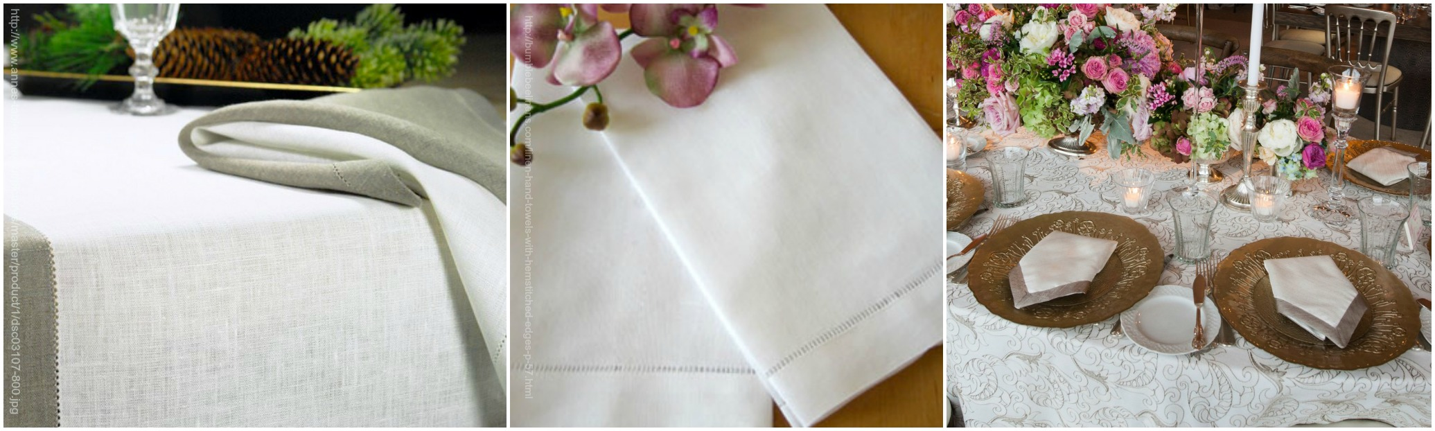 Crisp white linens help brighten the season says HMR Designs