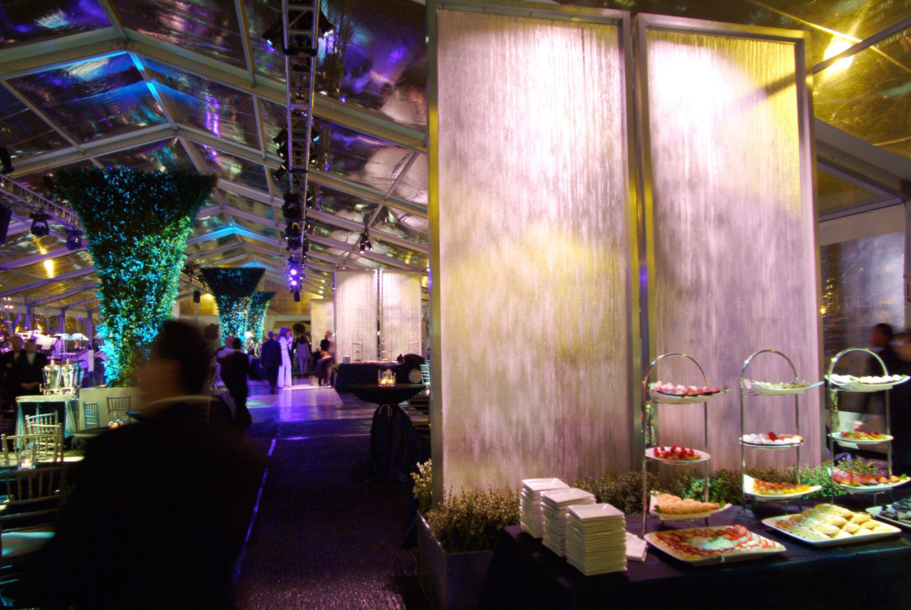 Millennium Park opening gala water wall night