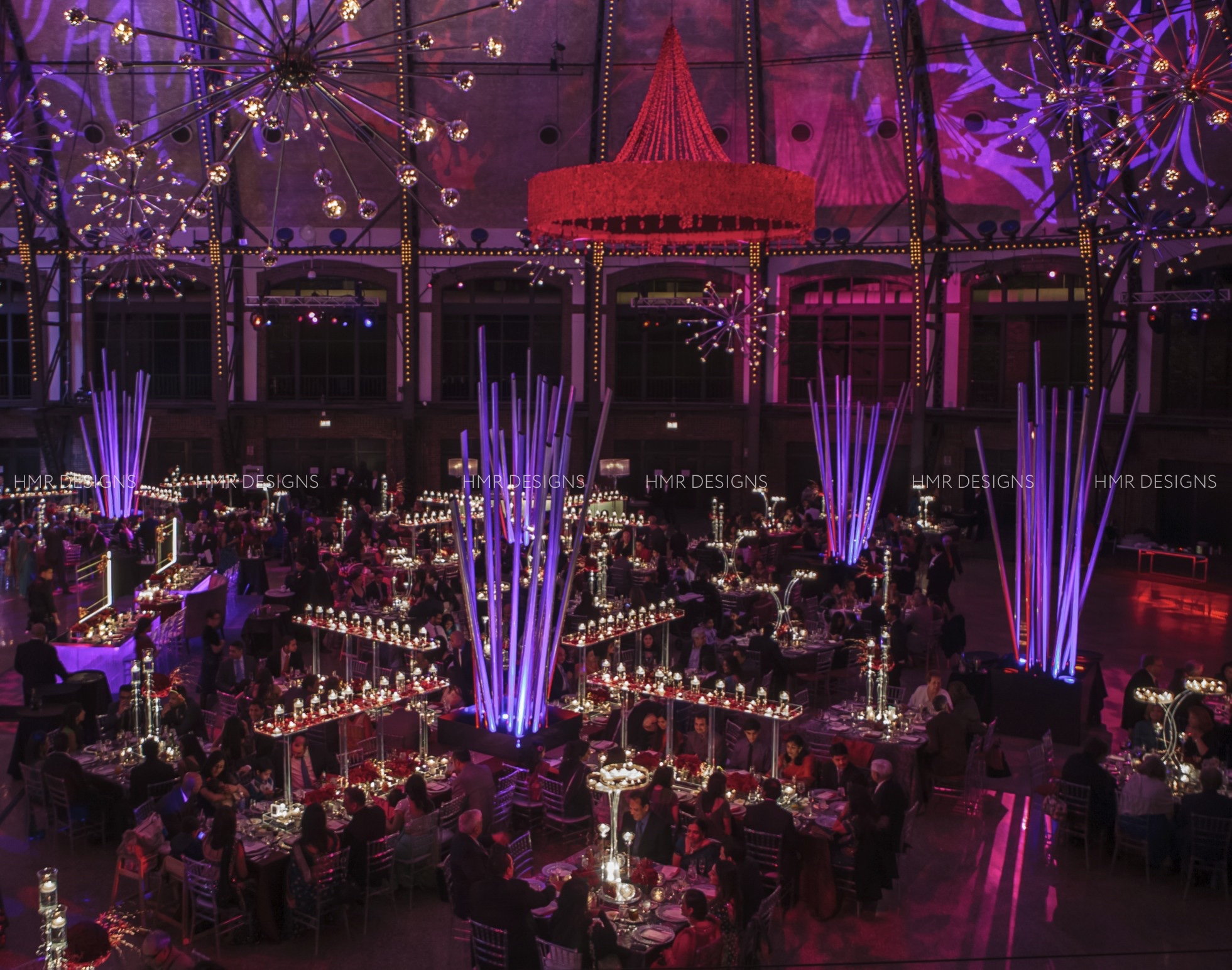 Stunning corporate event decor at Navy Pier Chicago by HMR Designs