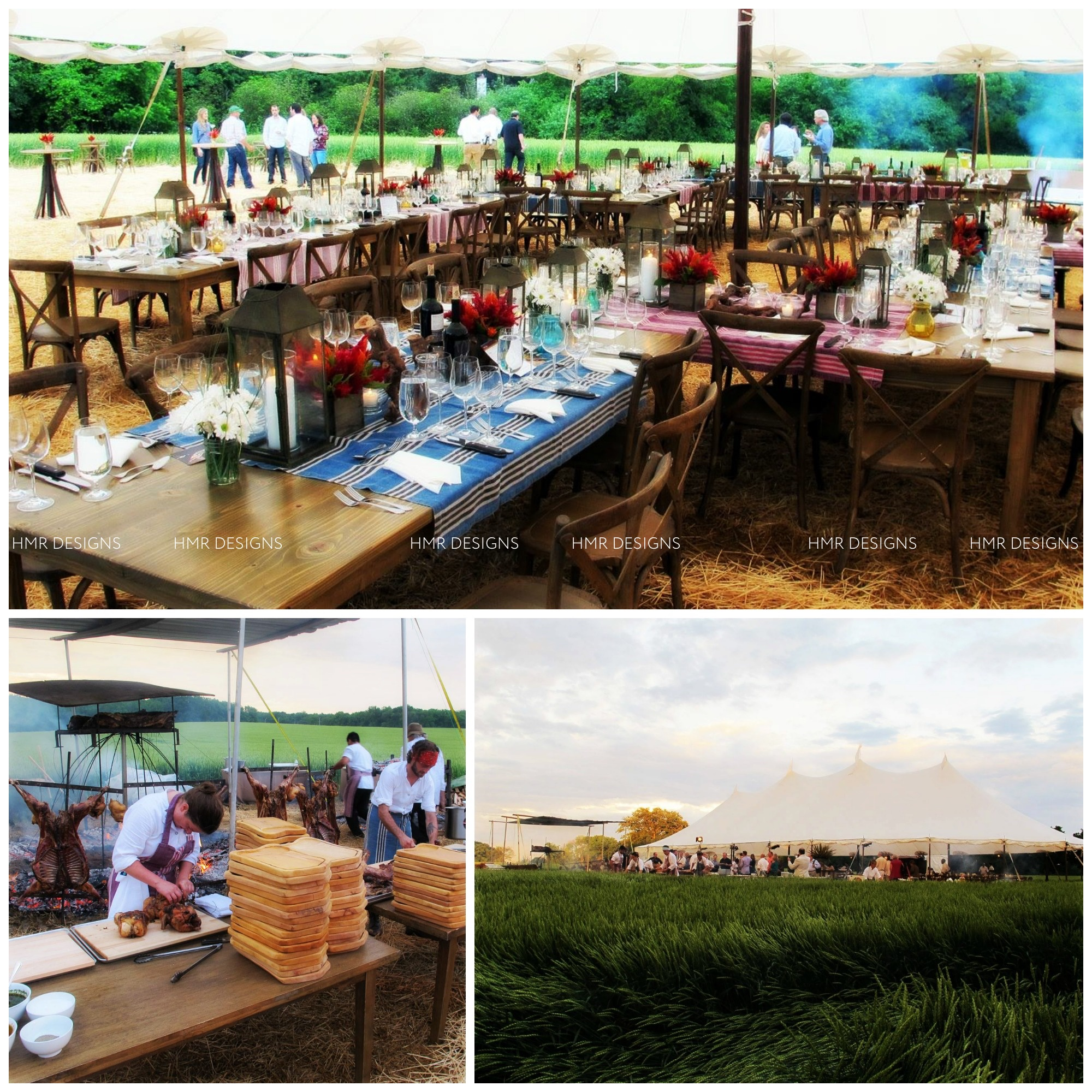 Outdoor culinary festivities with decor by HMR Designs