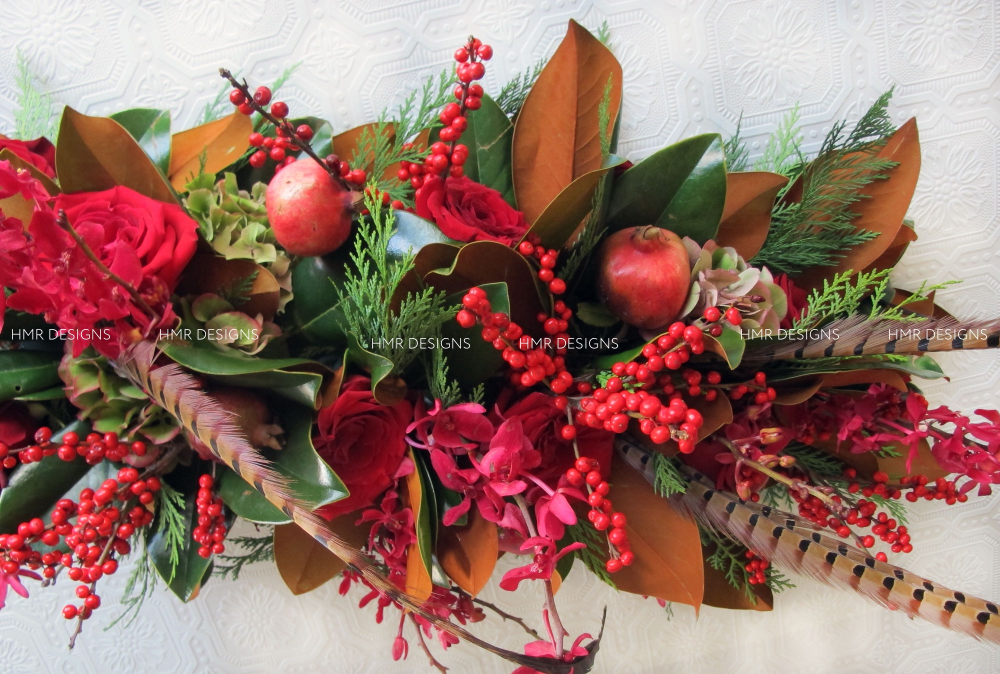 Holiday floral by HMR Designs