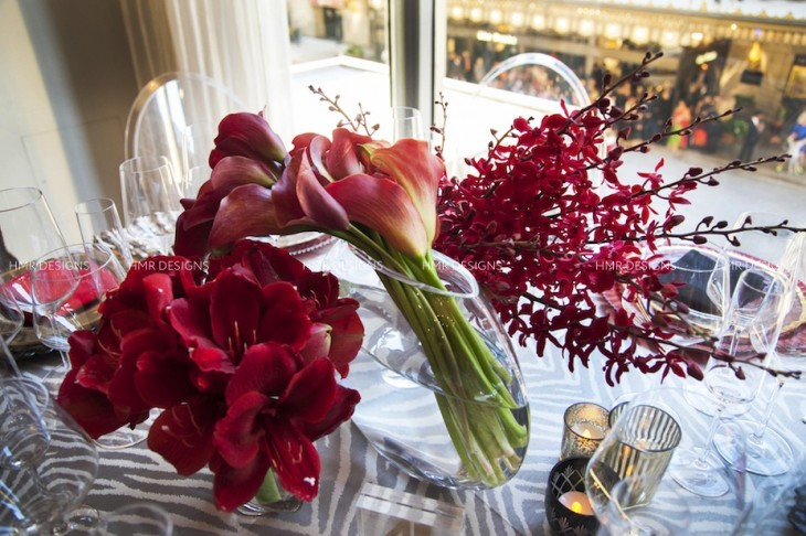 Leaning mono-botanic bouquets by HMR Designs