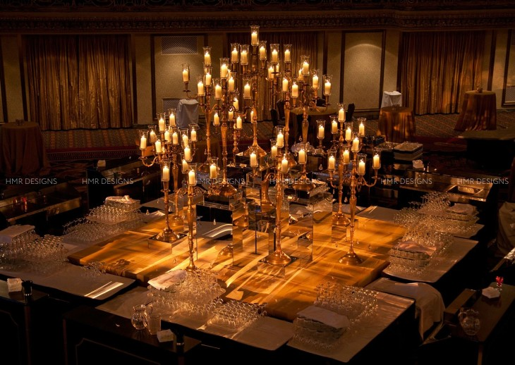 giant-oversized-brass-candelabras-create-a-stunning-candlelight-bar-centerpiece