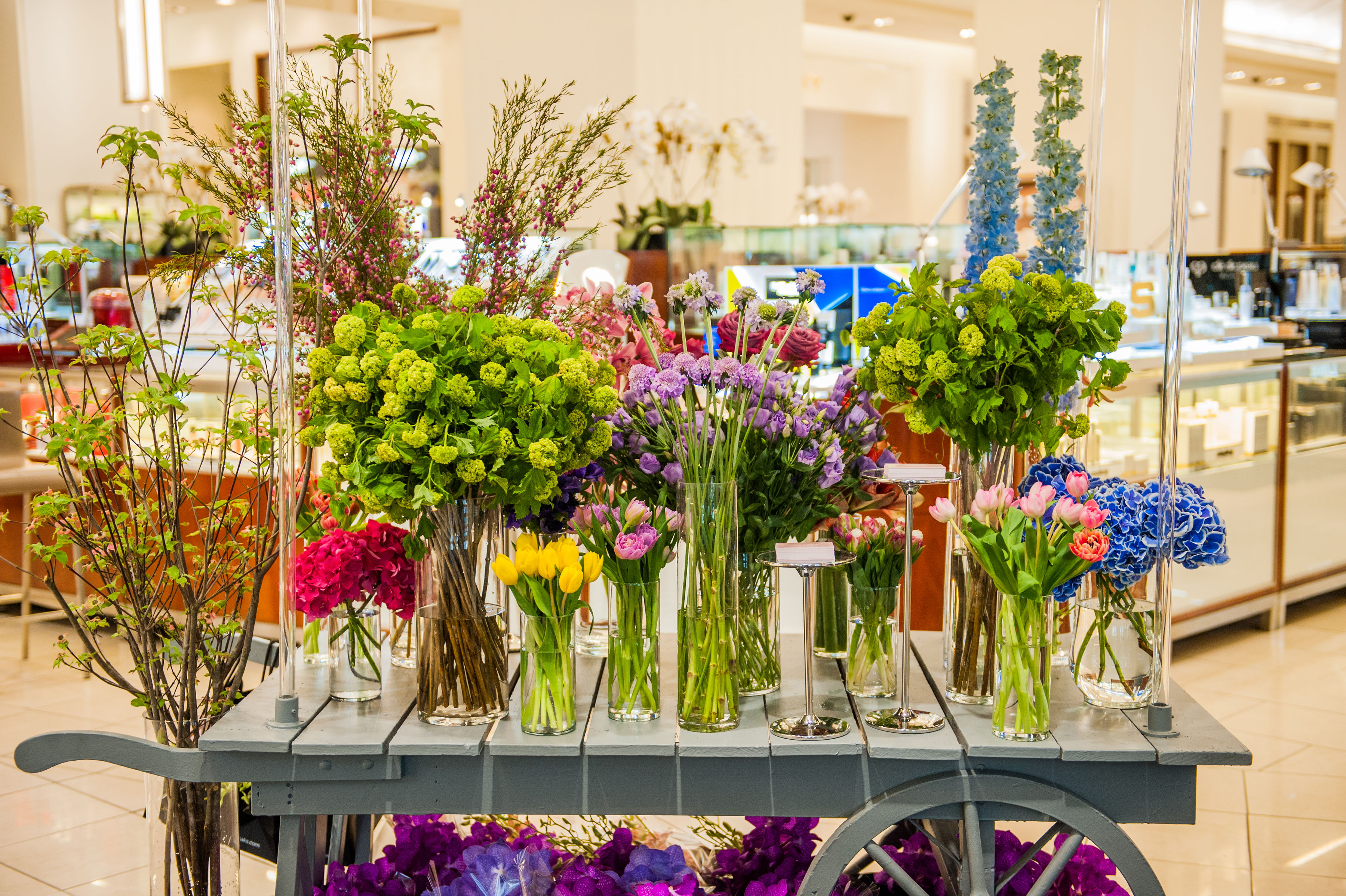 Sweet spring florals on display at Saks Fifth Avenue. Photo by: Cindy Fandl Photography