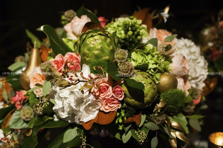 Gorgeous fall floral by HMR Designs