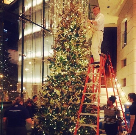 Trump Tower Holiday Decor by HMR Designs