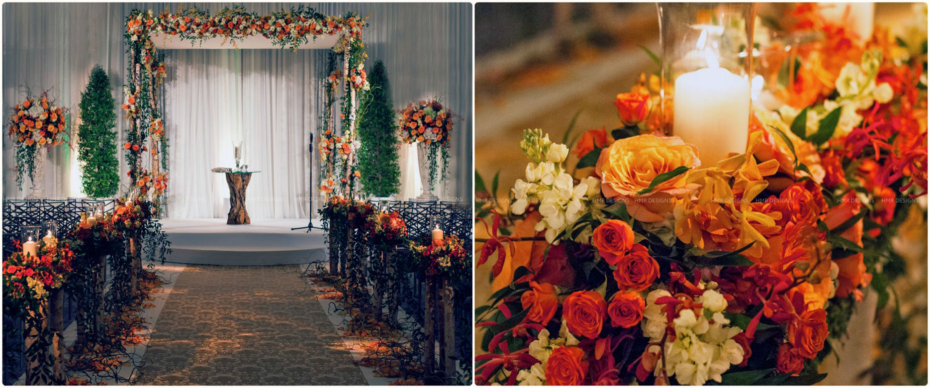 Autumn wedding at Radisson Blu Chicago by HMR Designs