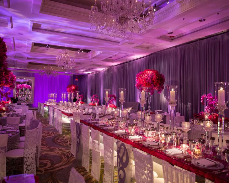 long-table-seating-and-pink-roses-wedding-reception-hmr-designs
