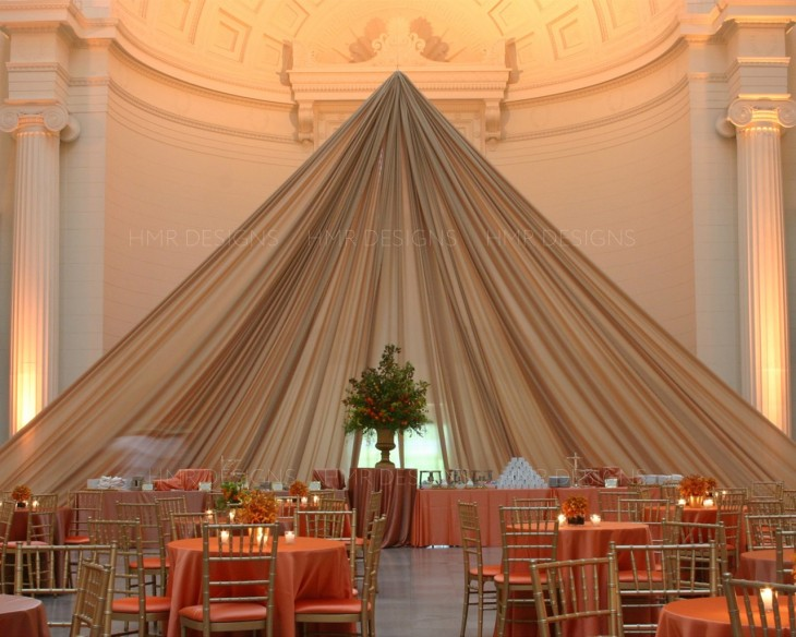 Custom fabric treatments by HMR Designs at the Field Museum Chicago