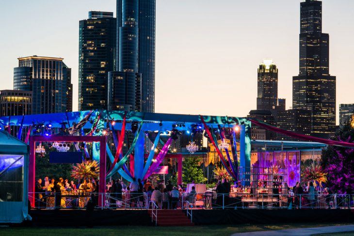 outdoor-celebration-for-a-wedding-at-northerly-island-chicago-