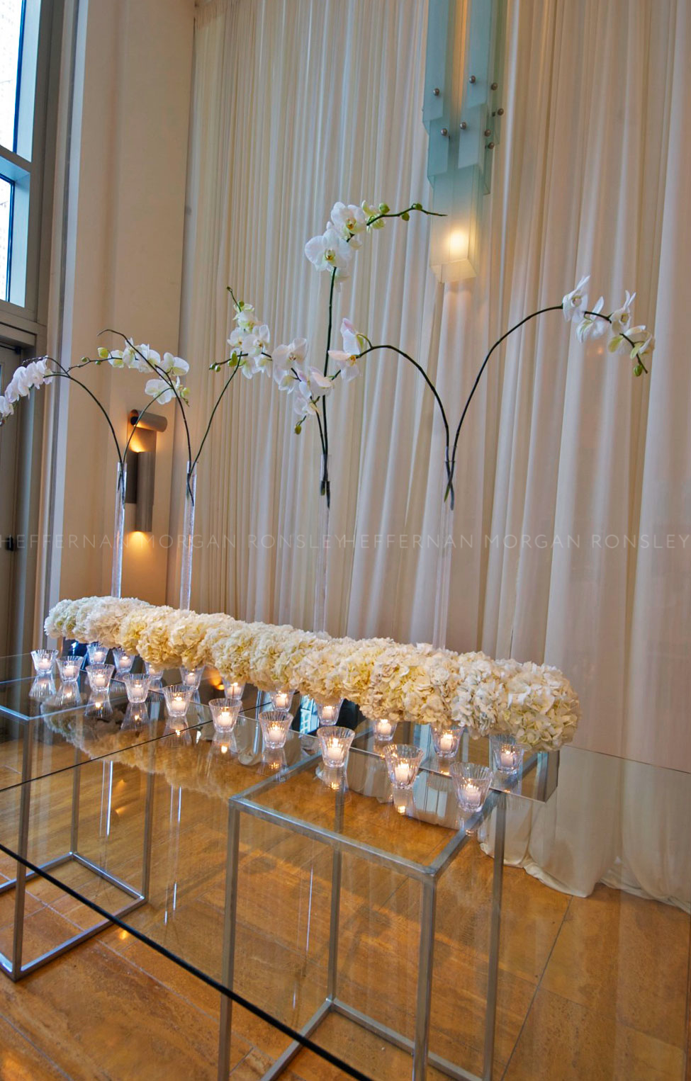 A chic and elegant placecard table display at 2007's Evening of Bridal Luxury at the Peninsula Chicago.