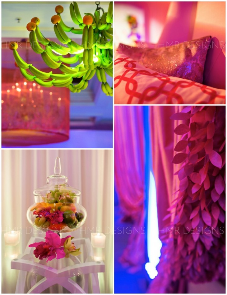 Complementary: wonderfully vibrant props and accents for a one of a kind celebration. Coordination by Paulette Wolf Events / Kent Drake Photography.