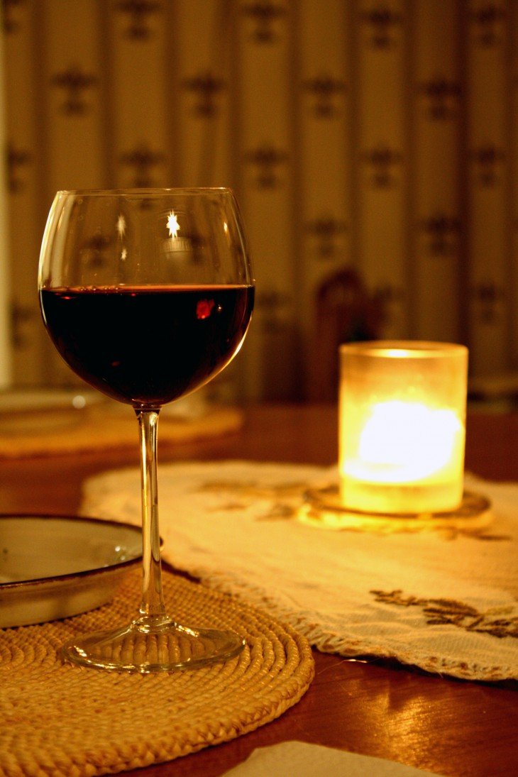 ENjoy a glass of wine at home.