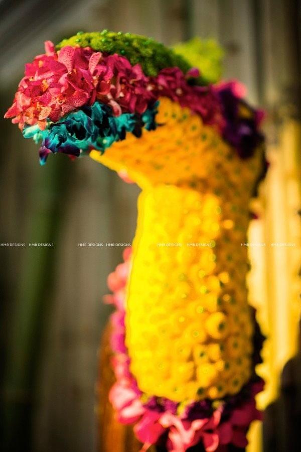 tropical flowers form a bird designed by HMR Designs