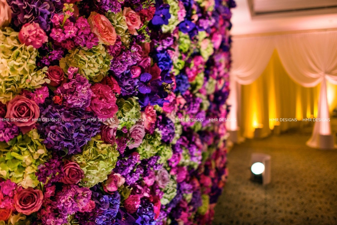 Floral Wall photobooth by HMR Designs